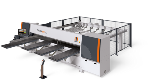 The horizontal pressure beam saw ZENTREX 6215 power is the high-performance cutting solution for high throughput